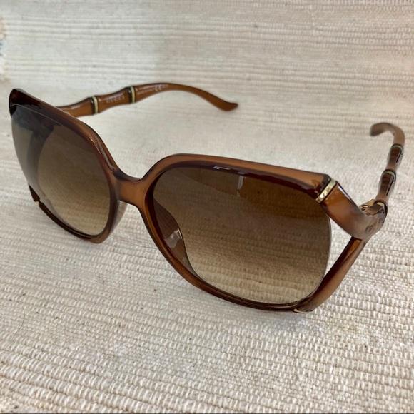 7193123d5f61e Gucci Accessories - Gucci Bamboo Square Sunglasses Brown